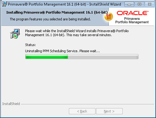 Oracle Portfolio Management uninstall PPM Scheduling Service