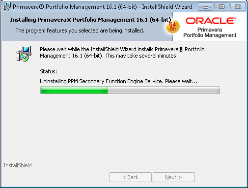 Oracle Portfolio Management uninstall PPM Secondary Function Engine Service