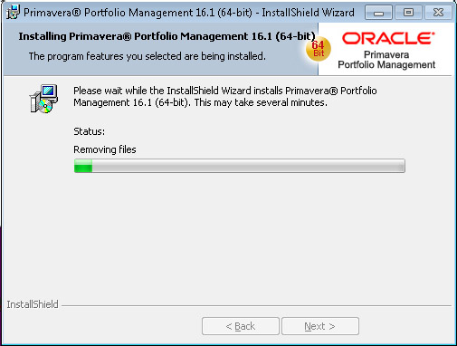 Oracle Portfolio Management Install Removing Files