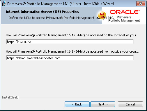 Oracle Portfolio Management Install URL for Access
