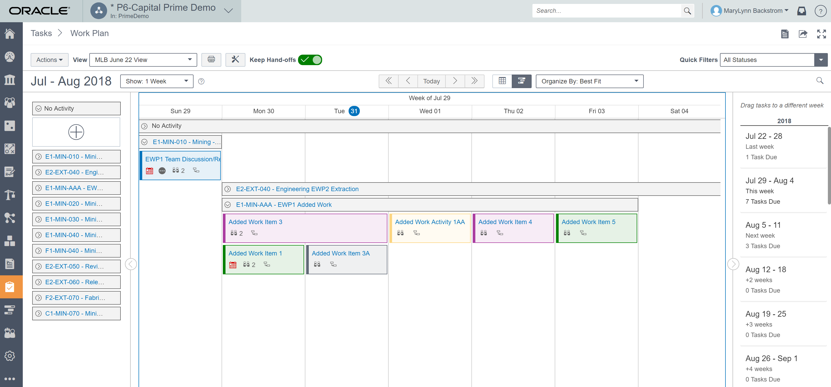 Oracle Prime Lean Scheduling image1
