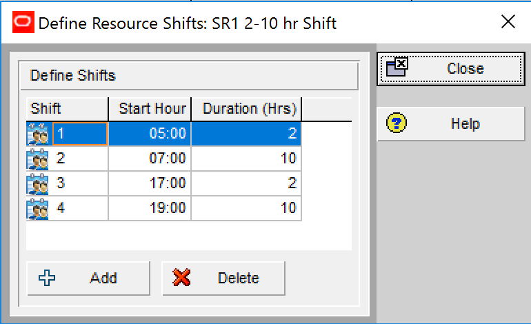 Finding Setting Up or Changing Resource Availability in P6 a Struggle defineshifts2 8