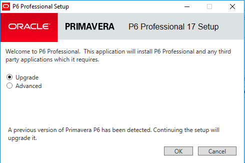Upgrading Primavera P6 17.7