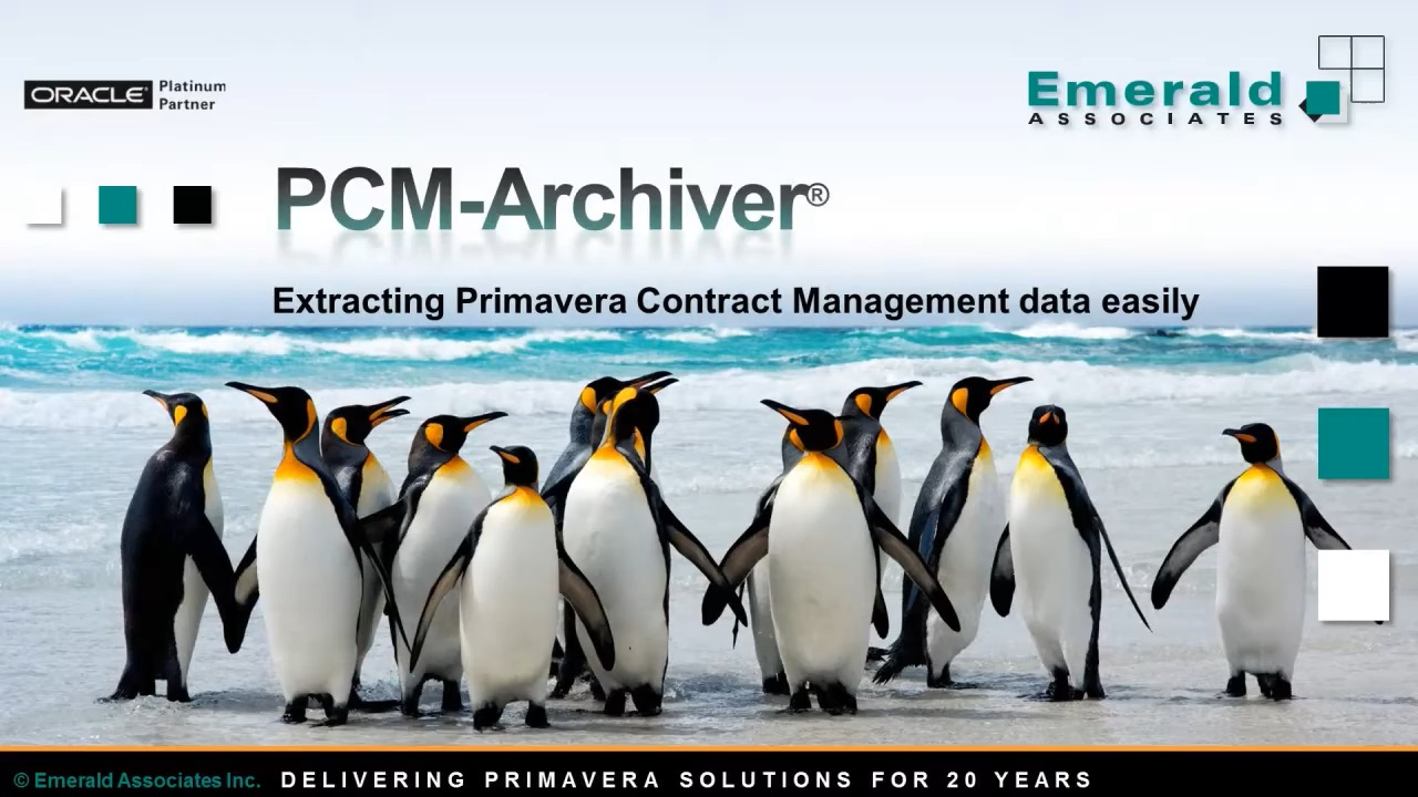 Extract Data From Primavera Contract Management With the PCM-Archiver